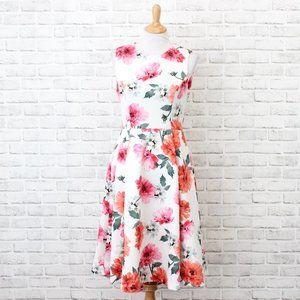 Calvin Klein Women's Floral Dress Multicolor 8